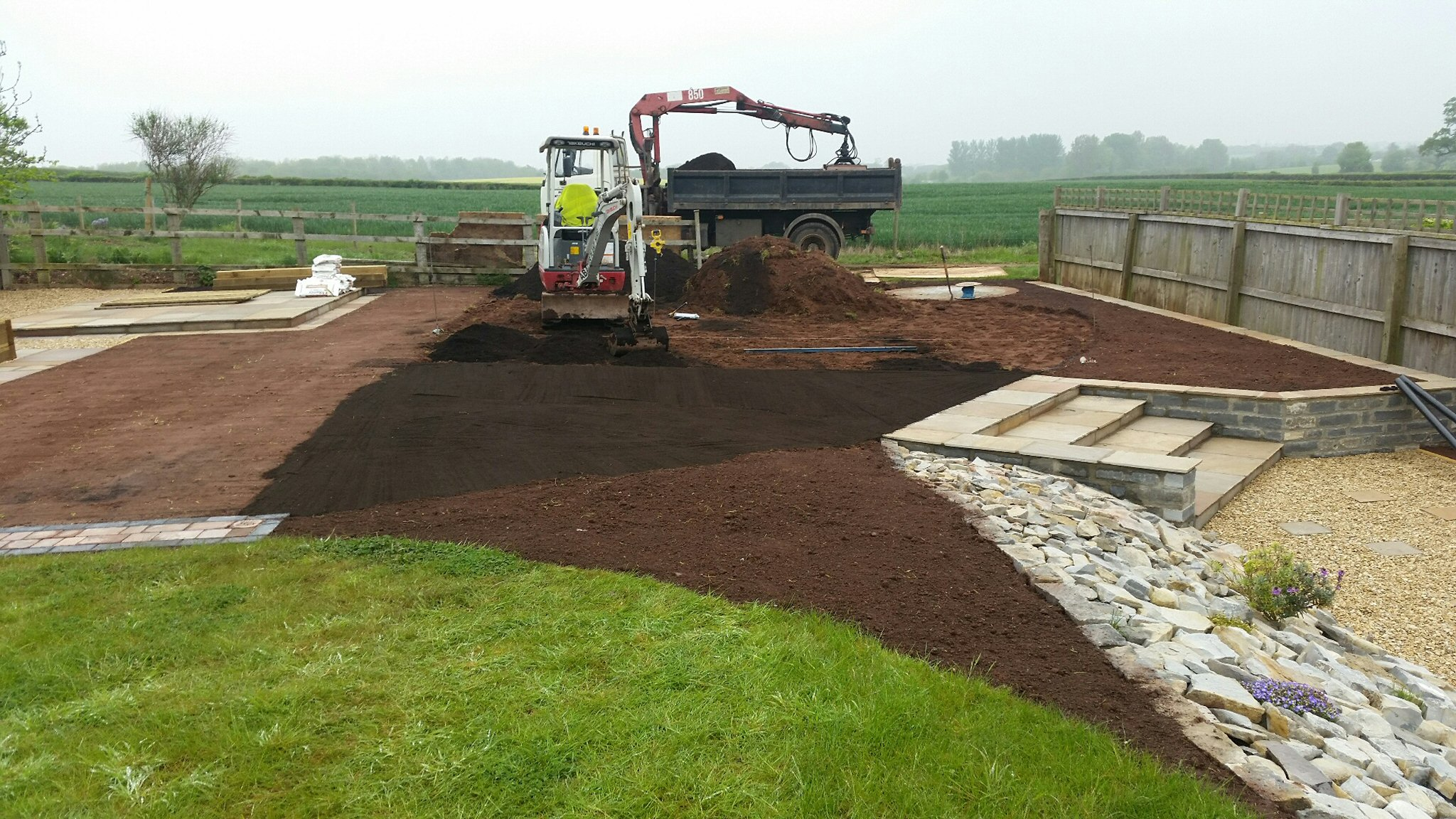 Groundwork contractors in taunton covering somerset and devon for Garden design yeovil