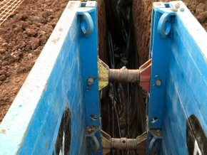 Deep drainage excavation