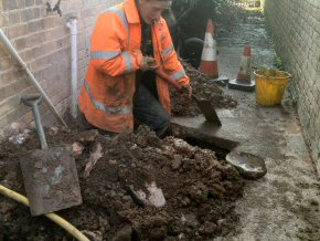 Gully replacement in Taunton.
