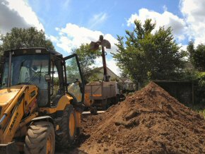 Ground works at Westbuckland School August 4, 2012