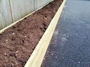 New pathway and flower bed at Wincanton School