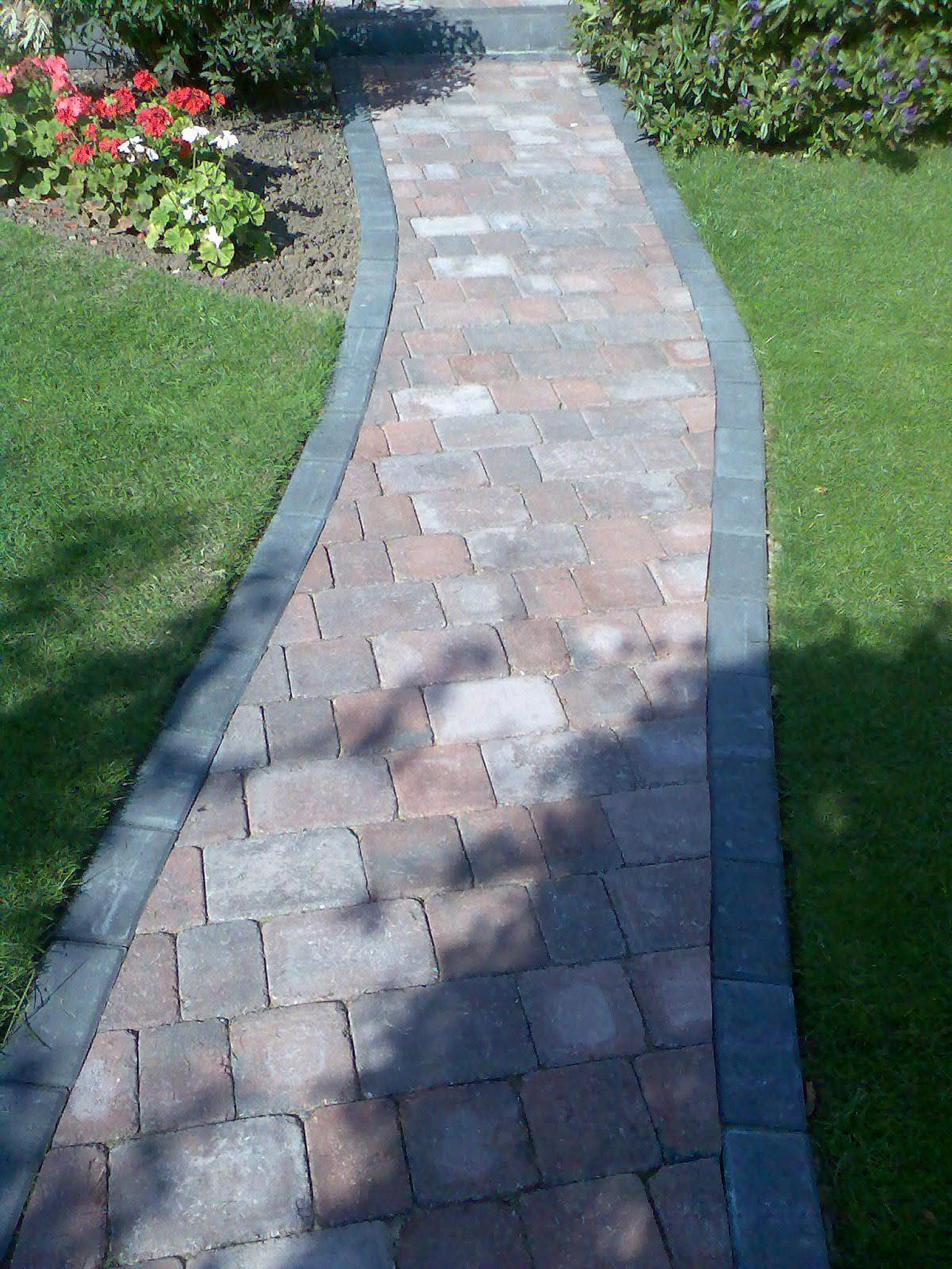 Car parks driveways pathways abacus groundworks - Picturesque front garden pathway ideas ...