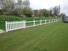 uPVC Picket Fencing at Wembdon Cricket Club - Work in progress