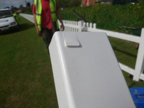uPVC Picket Fencing - Close up